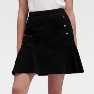 NWT $80 DKNY Size 2 Women's Black Mini Skirt
